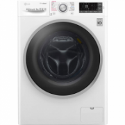 LG Washing machine with dryer F4J7TH1W Front loading, Washing capacity 8 kg, Drying capacity 5 kg, 1400 RPM, Direct drive, A, Depth 60 cm, Width 60 cm, White, Steam function, Display, LCD, Drying system  496,00