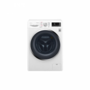 LG Washing machine with dryer F4J8JH2W Eco Hybrid™ Front loading, Washing capacity 10.5 kg, Drying capacity 7 kg, 1400 RPM, Direct drive, A, Depth 61 cm, Width 60 cm, White, Drying system, Display, LED, Steam function  712,00