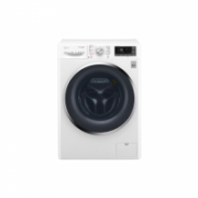 LG Washing machine with dryer F4J8JH2WD Eco Hybrid™ Front loading, Washing capacity 10.5 kg, Drying capacity 7 kg, 1400 RPM, Direct drive, A, Depth 61 cm, Width 60 cm, White, Steam function, LED, Drying system, Display, Wi-Fi  719,00