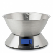 ADE Kitchen scale with bowl Hanna KE1702 Maximum weight (capacity) 5 kg, Graduation 1 g, Display type Blue backlit LCD display, Stainless steel  29,00