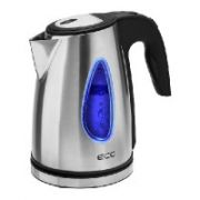 ECG RK 1740 kettle 1,7l; 2000 W; Removable and washable limescale filter; Stainless steel design  20,00