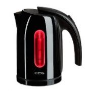 ECG RK 1766 Black kettle 1,7l; 2000 W; Removable and washable limescale filter;  21,00