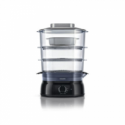 Philips Daily Collection Steamer HD9126/00 Black, 900 W, Number of baskets 3  51,00