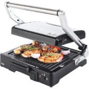 ECG KG 300 Deluxe Contact grill  2000 W 3 working positions - for scalloping, grilling and BBQ  45,00