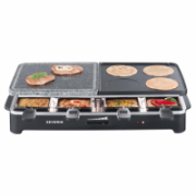 Severin Raclette Party Grill with natural Grill stone RG 2341 Black, 1500 W, 49 x 25 cm  46,00