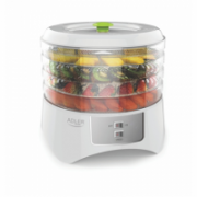 Food Dehydrator Adler AD 6654 White, 400 W, Number of trays 4, Temperature control  32,00