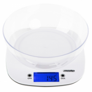 Mesko Scale with bowl MS 3165 Maximum weight (capacity) 5 kg, Graduation 1 g, Display type LCD, White  12,00