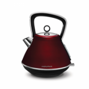Morphy richards Evoke Pyramid Kettle 100108 Electric, 2200 W, 1.5 L, Stainless steel, Red, 360° rotational base  72,00