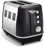 Morphy richards Evoke Toaster 224405 Power 850 W, Number of slots 2, Housing material Stainless steel, Black with stainless steel  62,00