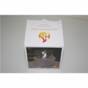 SALE OUT. TenderFlame, MgO, Lilly 12 cm Tenderflame Table burner Lilly MgO Grey, DEMO, USED  23,00