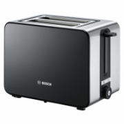 Bosch Toaster TAT7203 Black, 1050 W, Number of slots 2, Number of power levels 7, Bun warmer included  63,90