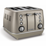 Morphy richards Toaster  240101 Platinum, Stainless steel, Number of slots 4, Number of power levels 7,  79,00