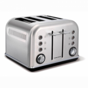 Toaster Morphy richards 242026 Stainless steel, Stainless steel, 1880 W, Number of slots 4, Number of power levels 7,  44,90