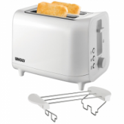 Unold Toaster 38411 White, Plastic, 800 W, Number of slots 2, Number of power levels 6, Bun warmer included  30,00