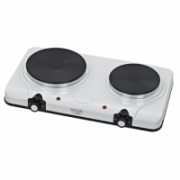 Adler Free standing table hob AD 6504 Number of burners/cooking zones 2, White, Electric stove, Electric  23,00