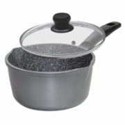 Stoneline 12584 Saucepan, 18 cm, Suitable for all cookers including induction, Anthracite, Non-stick coating, Lid included, Fixed handle  51,00