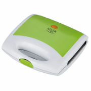 Sandwich maker Adler AD 3020 Green, 750 W, Number of plates 1, 4 triangle sandwiches, Handle with lock  15,00