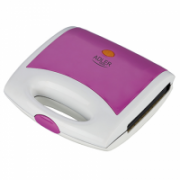 Sandwich maker Adler AD 3020 Violet, 750 W, Number of plates 1, 4 triangle sandwiches, Handle with lock  14,00