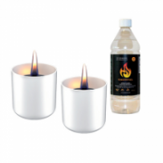 Tenderflame Gift Set, 2 Tabletop burners + 0,5 L fuel,  Lilly 8 cm White  34,00