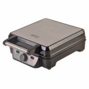 Waffle maker Camry CR 3025 Black/Stainless steel, 1150 W, Belgium, Number of waffles 4  26,00