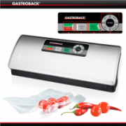 Gastroback Vacuum Sealer  46008 Two operating modes, fully automatic and manual, Inox, 120 W, 10 slipped foil bags (small and large)  90,00