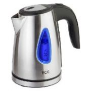 ECG RK 1040 kettle 1,0l; 1500 W; Removable and washable limescale filter; Stainless steel design  16,00