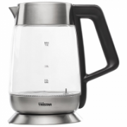 Tristar Kettle WK-3375 With electronic control, Stainless steel/Glass, Glass/Black, 2200 W, 360° rotational base, 1.8 L  37,00