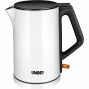 Unold Kettle 18520 Standard, Stainless steel, White, 2200 W, 360° rotational base, 1.5 L  27,00
