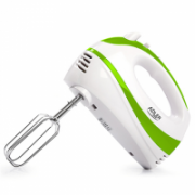Hand Mixer Adler AD 4205 g White, green, 300 W, Number of speeds 5, Shaft material Stainless steel,  15,00