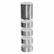 Stoneline 18216 Grinder top with 4 jars, Housing material Stainless steel, ceramic, PP, Diameter approx. 5.1 cm, height: approx. 21 cm, approx. 40 ml per spice container. This spice mill is suitable for four different spices or herbs., Stainless steel  19,00