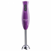 Hand Blender Adler AD 4611 Purple, 300 W, Number of speeds 2, Shaft material Stainless steel  15,00