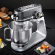 Carrera Stand mixer 657 Grey, 800 W, Number of speeds 8, Shaft material Stainless steel