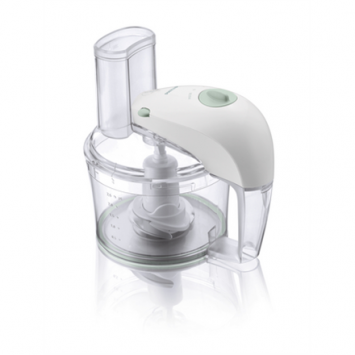 Philips Food processor HR7605/10 White, 350 W, Number of speeds 1, 2.1 L