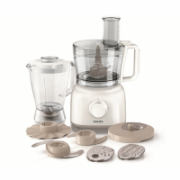 PHILIPS HR7628/00 Food processor, 650W, 2 speeds and pulse functions, 7 accessories, Blender jar size: 1.75L; Bowl capacity: 2.1L; White   69,00