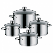 WMF Sapphire 4-Piece Saucepan Set  4, 2,5; 1,9; 3,3; 5,7 L, Cromargan 18/10 stainless steel, Stainless steel, Dishwasher proof, Lid included  138,90