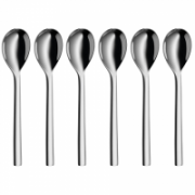 WMF Nuova  Spoons, Material Cromargan® 18/10 stainless steel, 6 pc(s), Dishwasher proof, Stainless steel  14,00