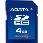 A-DATA 4GB SDHC atminties kortelė (class 4), retail  32,00