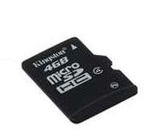 KINGSTON MicroSD HCCard 4GB Class 4  30,00