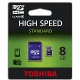 TOSHIBA Memory ( flash cards ) 8GB Micro SDHC  31,00