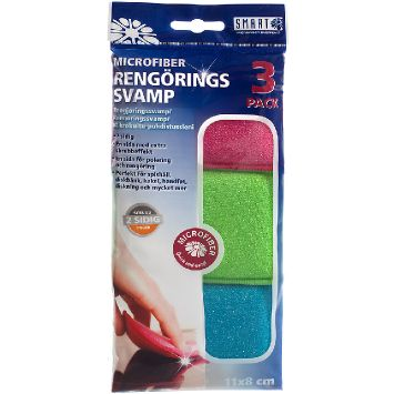 Kempinėlės SMART MICROFIBER SYSTEM Cleaning sponges 3-pack