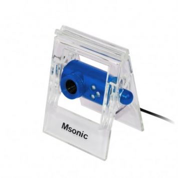 Web kamera Msonic MR1803B, USB2+3.5mm, Mikrofonas, 3 led diodai, Mėlyna