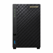 Asus Asustor Tower NAS AS3102T up to 2 HDD/SSD, Intel Celeron Dual-Core, Processor frequency 1.6 GHz, 2 GB, DDR3L, Black  234,00