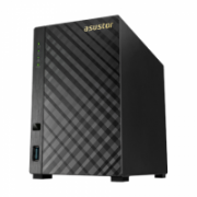 Asus Asustor Tower NAS AS3102T v2 up to 2 HDD, Intel Celeron Dual-Core, Processor frequency 1.6 GHz, 2 GB, DDR3L, Black  249,00