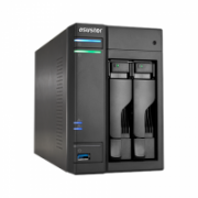 Asus Asustor Tower NAS AS6302T up to 2 HDD/SSD, Intel Celeron Dual-Core, J3355, Processor frequency 2 GHz, 2 GB, DDR3L, Black  305,00