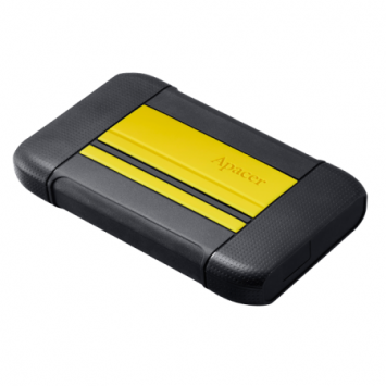 External HDD Apacer AC633 2.5'' 1TB USB 3.1, shockproof military grade, Yellow