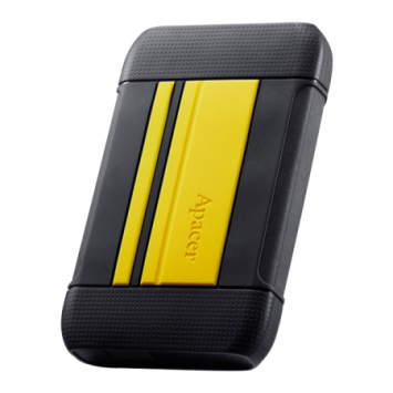 External HDD Apacer AC633 2.5'' 2TB USB 3.1, shockproof military grade, Yellow