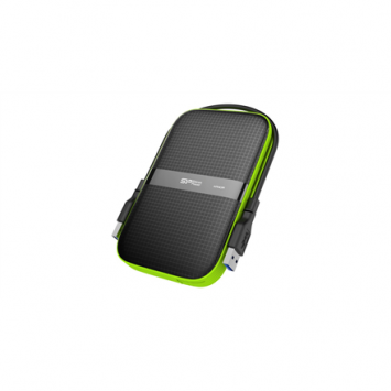 "Silicon Power Armor A60 1TB 2.5 "", USB 3.1, Black/Green"