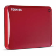 "Toshiba Canvio Connect II 2000 GB, 2.5 "", USB 3.0, Red, 10 GB Cloud Storage (Pogoplug)  99,00"