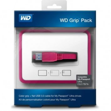 WD My Passport 2TB Grip Picasso Fuchsia