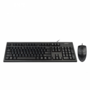 A4Tech Combo Mouse and Keyboard KR-85550 Wired, USB, Keyboard layout US, USB, Black, No, Wireless connection No, Mouse included, EN, Numeric keypad  9,00